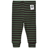 Mini Rodini Black and Green Ribbed Stripe Leggings