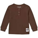 Mini Rodini Brown Ribbed Grandpa Top