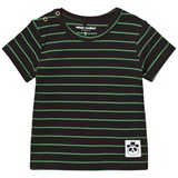 Mini Rodini Black and Green Stripe Tee