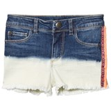 IKKS Indigo Dip Dyed Denim Shorts with Fringe Detail