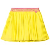 Le Big Yellow Pleated Ebony Skirt with Lurex Waistband