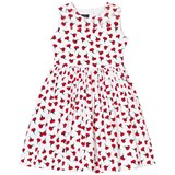Oscar De La Renta Red Carnation Print Party Dress