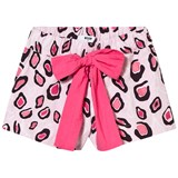 MSGM Pink Printed Shorts with Bow Tie