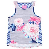 Joules Blue Floral and Stripe Jersey Vest