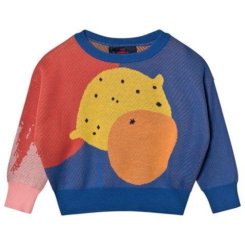 The Animals Observatory Blue Bull Kids Sweater