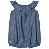 Ralph Lauren Blue Chambray Frill Bubble