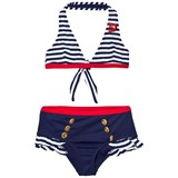 MC2 St Barth NAVY NAUTICAL BIKINI