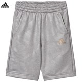 adidas Grey Football Silo Long Shorts