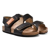 Kavat Black 2-Strap Leather Sandals