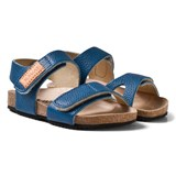 Kavat Blue 2-Strap Leather Sandals
