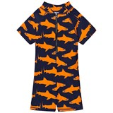Gardner and The Gang Orange Shark Print UV Suit