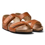 Kavat Tan 2-Strap Leather Sandals