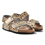 Kavat Leopard Print 2-Strap Leather Sandals