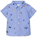 Burberry Blue Mini Chambray Clarkey Embroidered Shirt