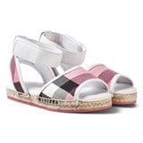 Burberry Rose Pink Check Livvy Espadrille Sandals