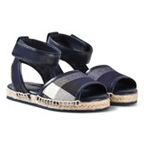 Burberry Navy Check Livvy Espadrille Sandals