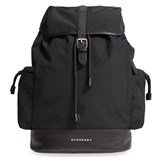 Burberry Black Watson Nylon Changing Backpack with Changing Mat