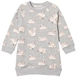 Stella McCartney Kids Grey Leona Swan Dress