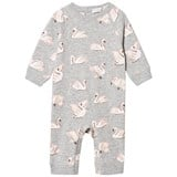 Stella McCartney Kids Grey Swan Print Jimbo Footless Babygrow