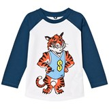 Stella McCartney Kids White and BLue TIger Print Max Tee