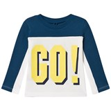 Stella McCartney Kids White and Blue GO HIKE! Harp Tee