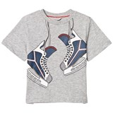 Stella McCartney Kids Grey Skates Print Arrow Tee