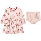 Stella McCartney Kids Pink Fleur Swan Dress with Briefs
