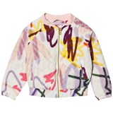 Molo White Graffiti Print Haliva Quilted Jacket