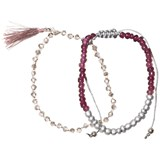 Molo (Pack of 2) Purple Mist Beaded Delicate Bracelets Set