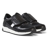 Dolce & Gabbana Black Velcro Branded Trainers