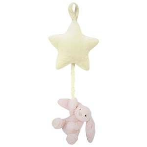 Jellycat Pink And Yellow Bashful Bunny Star Musical Pull Rosa