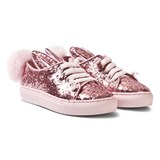 Minna Parikka Rose Glitter Shearling Tail Mini Bunny Trainers