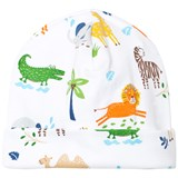 Kissy Kissy White Jungle Print Hat
