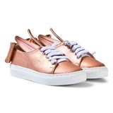 Minna Parikka EXCLUSIVE Rose Gold Nappa Leather Mini Bow Trainers