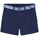 Ralph Lauren Blue Classic Chino Shorts with Belt