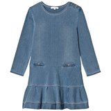Chloé Blue Chambray Long Sleeve Dress