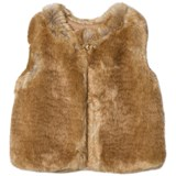 Chloé Tan Faux Fur Gilet