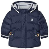 Timberland Kids Navy Water-Repellent Padded Puffer Coat