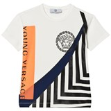 Young Versace White Medusa and Branded Graphic Tee