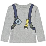 Stella McCartney Kids Grey Backpack Barley Long Sleeve T-Shirt