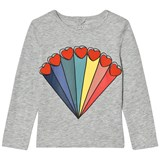 Stella McCartney Kids Grey Rainbow Heart Bella Long Sleeve T-Shirt