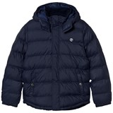 Timberland Kids Navy Water-Repellent Hooded Puffer Jacket