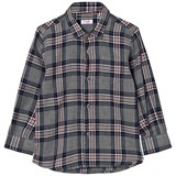 Il Gufo Grey and Navy Multi Check Shirt