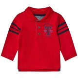 Timberland Kids Red Jersey Letter Long Sleeve Polo