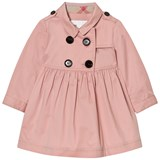 Burberry Pink Lillybeth Long Sleeve Trench Dress