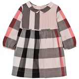 Burberry Pale Pink Check Liz Long Sleeve Dress