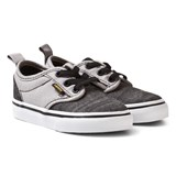 Vans Black and Grey Chambray Atwood Infants Slip Ons