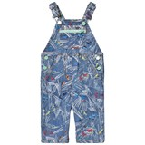 Stella McCartney Kids Blue Scribble and Skates Print Buzzby Dungarees