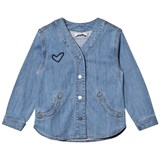 Stella McCartney Kids Blue Denim Smoothie Heart Shirt
