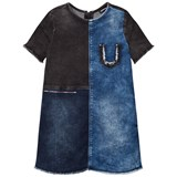 Diesel Blue and Navy Woven Dress